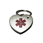 Key 2 Life® EMR Medi-Chip Heart USB Key Ring