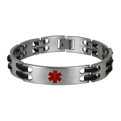 Zebra Link Stainless Steel Medical ID Bracelet