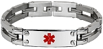 The Industrial Link Stainless Steel Medical ID Bracelet