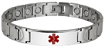The Eclipse Link Stainless Steel Magnetic Medical ID Bracelet