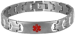 Futura Link Stainless Steel Medical ID Bracelet