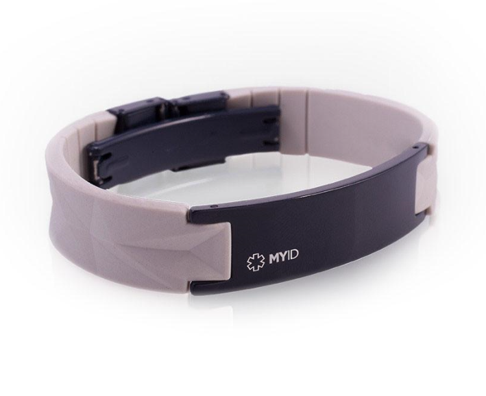 MyID Luxe Medical Bracelet - Gray and Dark Blue