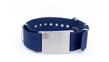 Nato Medical ID Bracelet - Blue
