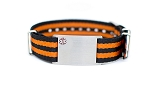 Nato Medical ID Bracelet - Orange Black Stripe - 18mm