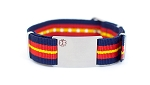 Nato Medical ID Bracelet - Red Blue Yellow Stripe