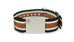 Nato Medical ID Bracelet - Black White Green Red Stripe