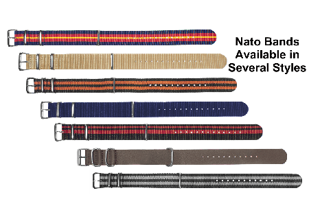 Nato Strap for Watches and Bracelets - 18mm