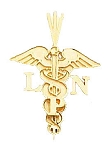 Licensed Practical Nurse Pendant in Yellow Gold or Sterling Silver