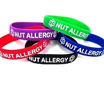 Nut Allergy Silicone Wristband Bracelet MULTI-PACK