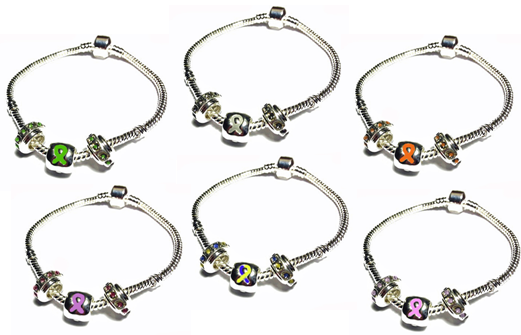 pandora style bracelets help show support for medical causes