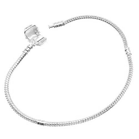 Sterling Silver Plated Snake Chain Bracelet