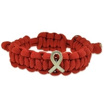 Heart Disease Awareness Paracord Bracelet