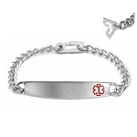 Safety Clasp Medical ID Bracelet - Slim Plaque