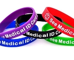 See Medical ID Card Silicone Wristband Bracelet MULTI-PACK