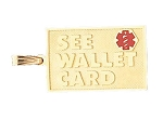 See Wallet Card Pendant in 10K, 14K Gold or Sterling Silver