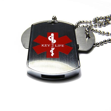 Key 2 life emr medi chip gi style usb dog tag aloadofball Image collections