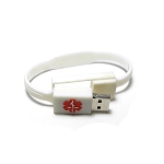 Key 2 Life® EMR Medi-Chip White Silicone Band USB Bracelet