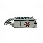 Key 2 Life® EMR Medi-Chip Men's Stylish Throwback USB Bracelet