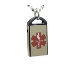 Key 2 Life® EMR Medi-Chip Skinni Mini USB Necklace