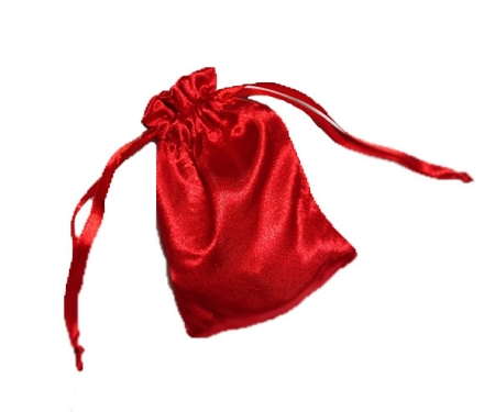 Small Red Satin Gift Bag