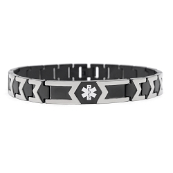 Jet Black Titanium Medical ID Bracelet