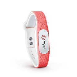 MyID Hive Medical ID Bracelet - Coral