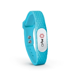 MyID Hive Medical ID Bracelet - Neon Blue