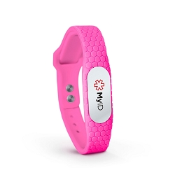 MyID Hive Medical ID Bracelet - Neon Pink