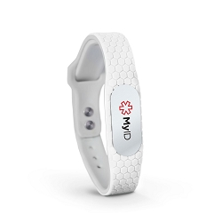 MyID Hive Medical ID Bracelet - White
