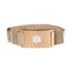 Rose Gold Magnetic Closure Medical ID Bracelet