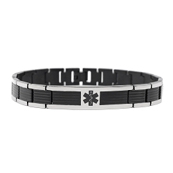 Vista Black Titanium Medical ID Bracelet
