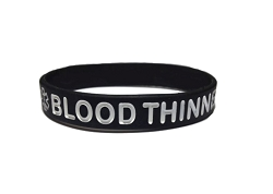 Blood Thinner Silicone Wristband Bracelet