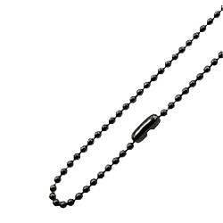 Stainless Steel Ball Chain Necklace - Black Plated