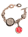 Bling Bracelet with Medical ID Medical ID Clip On Charm
