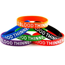 Blood Thinner Silicone Wristband Bracelet MULTI-PACK