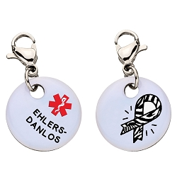 Clip On Aluminum Medical ID Charm - EHLERS-DANLOS