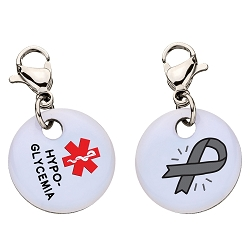 Clip On Aluminum Medical ID Charm - HYPOGLYCEMIA