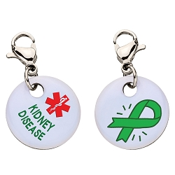 Clip On Aluminum Medical ID Charm - KIDNEY DISEASE