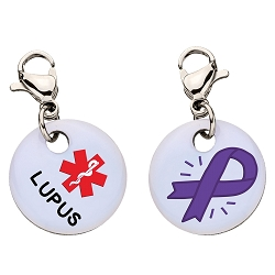 Clip On Aluminum Medical ID Charm - LUPUS