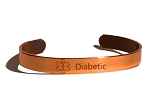 Copper Sabona Medical ID Bracelet - DIABETIC