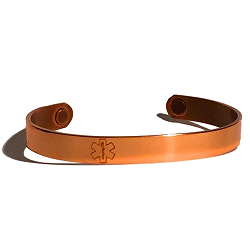 Elegant Copper Medical ID Bracelet - MAGNETIC
