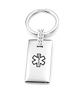 Crystal Accent Medical ID Keychain