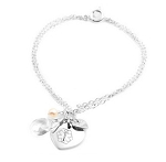 Sterling Silver Heart Charm Medical ID Bracelet