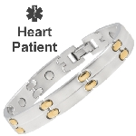 Sabona Duet Magnetic Medical ID Bracelet - HEART PATIENT