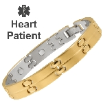 Sabona Gold Magnetic Medical ID Bracelet - HEART PATIENT