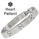 Sabona Stainless Magnetic Medical ID Bracelet - HEART PATIENT