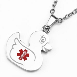 Ducky Stainless Steel Medical ID Pendant