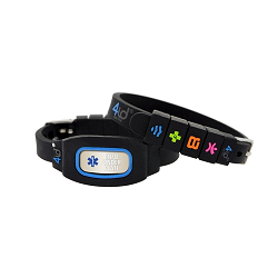 4id Sports Medical Identification Bracelet - BLUE