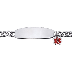 Women's Sterling Silver Medical ID Charm Bracelet