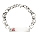 Circle Link Stainless Steel Medical ID Bracelet